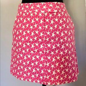 J. CREW pink & cream mini skirt